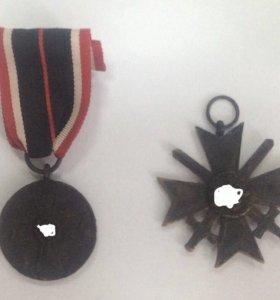 Медаль и крест КВК 2 класс с мечами 3 рейх