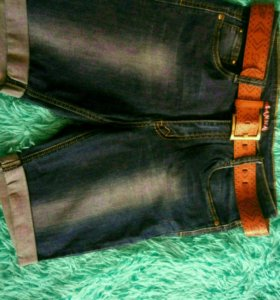 Новые джинсовые шорты-бриджи