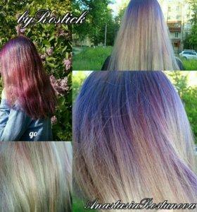 Кератиновое восстановление волос)