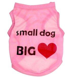 Футболка для маленькой собаки новая размер S