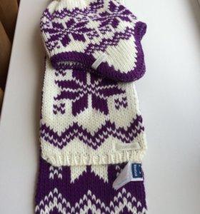 Шапка и шарф Reebok.