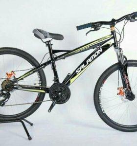 Велосипед горный взрослый черн-зел, 17рама, dк26