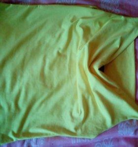 Топ,ярко жёлтого цвета