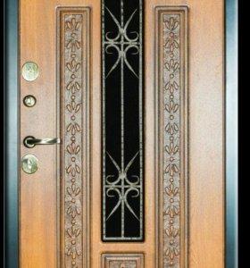 Двери металлические с элементами ковки