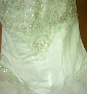 Свадебное счастливое платье