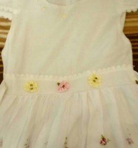 Платье нарядное с вышивкой до 6 лет