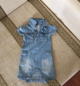 Комбенизончик джинсовый для девочки и для мальчик