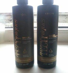 Шампунь и бальзам для волос драгоценные масла
