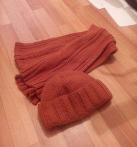 Шапка и шарф бу