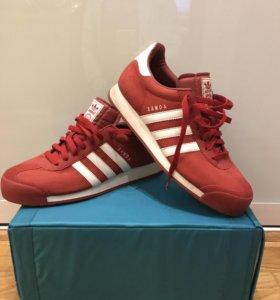 Кеды унисекс красные Adidas Originals Samoa