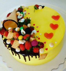 Красивый,вкусный, нежный торт на любое торжество
