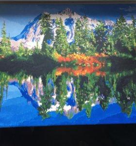 Картина (акрил) горный пейзаж