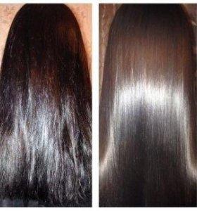 Кератиновое выпрямление, нанопластика волос