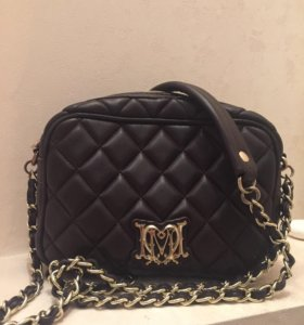 Кожаная сумка moschino love ❤️ оригинал