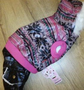 Куртка для собаки зимняя L новая