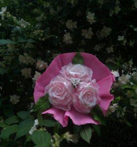 """Букет из мыла""""розы"""""""