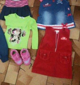 Пакет вещей для девочки 2-3 года