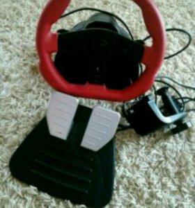 Игровой руль (педали не работают)