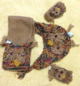 Новый комплект Monsoon из шапки, шарфа и перчаток