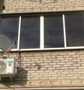 Раздвижные окна на балкон(алюминиевые)
