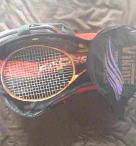 Теннисная сумка FISCHER +ракетка viking.