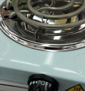 Новая электрическая плитка двух конфорочная.