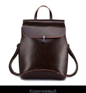 Рюкзак НОВЫЙ🎒 кожаный
