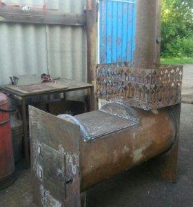 Печка для бани , из 530 трубы можно под заказ.