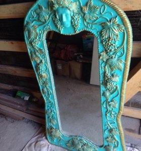 Дизайнерское коллекционное старинное зеркало