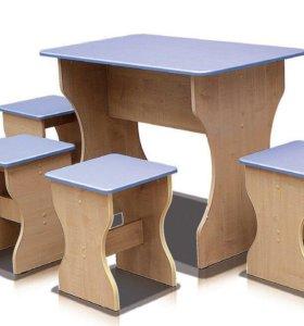 Стол обеденный и табурет (1 шт.)
