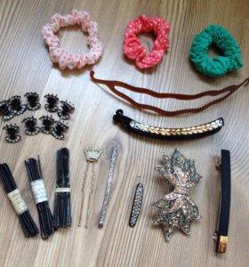 Набор аксессуаров для волос+в подарок коробочка