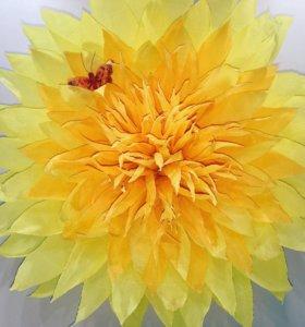 Большие цветы для оформления интерьера, фотозон