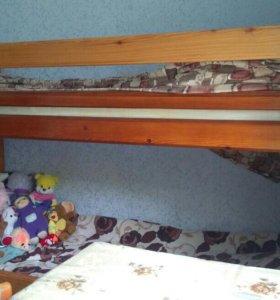 Двух ярусная кровать. Ширина 190см, высота 147см