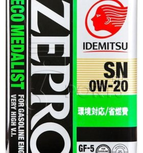 Масло Idemitsu ZEPRO 0W20 4л