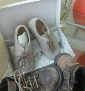 Новые туфли с ботинками