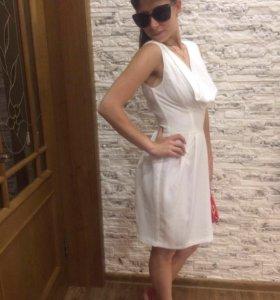 Белое, лёгкое шифоновое платье