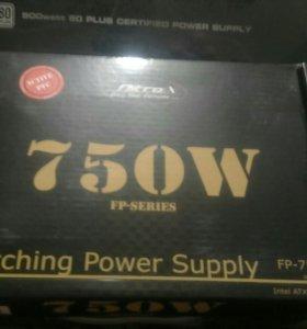 Блок питания Inter-Tech FP750 Watt ATX2.2