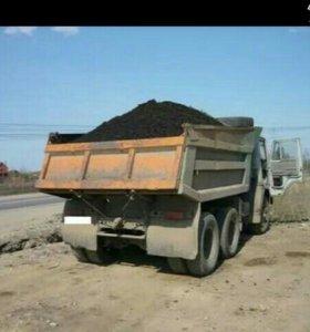 Доставка песка дров земли