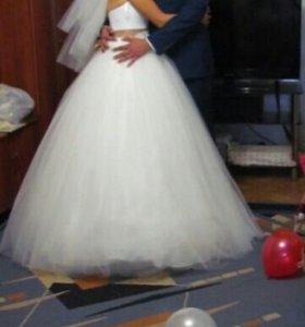 Свадебное платье + фата в подарок