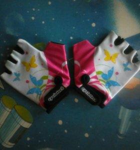Перчатки велосипедные для девочек