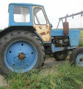 Трактор МТЗ - 50 с телегой