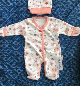Комплект для новорожденной новый