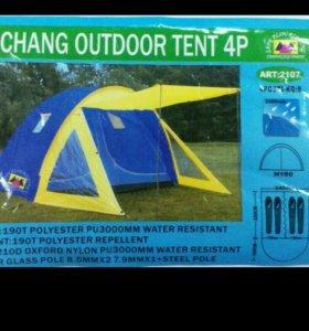 Палатка 4 местная новая на две комнаты новая