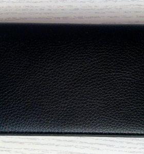 Мужское портмоне внутри кожа бумажник чёрный