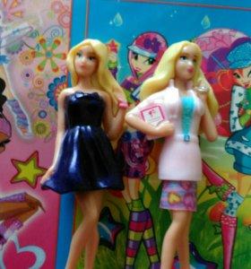 Фигурки Барби. Медсестра. И Барби в вечернем плать