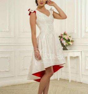 Эксклюзивное короткое свадебное/выпускное платье