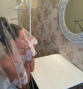 Свадебное платье силуэт / фата