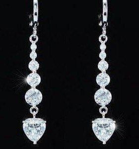 Серьги кристаллы Swarovski