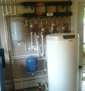 Отопления, водоснабжение ,канализация.Монтаж скваж