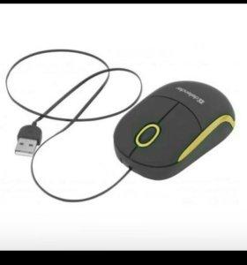 Мышь Defender Discovery MS-630 (черно-желтый)
